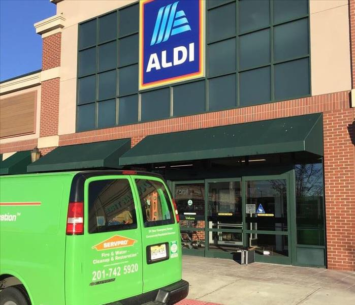 SERVPRO van in front of Aldi Supermarket